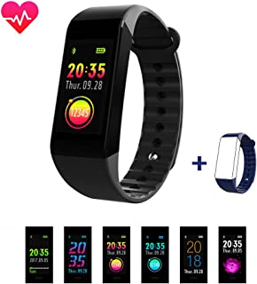 Smiler+ Fitness Tracker, Upgraded Color Screen Heart Rate Monitor Blood Pressure Smart Bracelet Wristband, Sleep Monitor Pedometer Sport Waterproof Activity Tracker for iPhone Android Smartphone