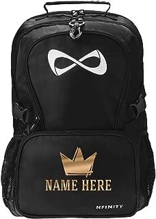 Metallic Custom Crown Backpack: Nfinity Black Backpack Bag