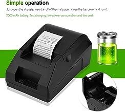 Richer-R Mini Impresora Térmica, Impresora de Tickets/QR/Recibos Billetes USB Portátil para Sistema de Caja Registradora/ESC / POS,Compatible con Android, iOS, Windows, Linux,etc.(Plug UE.)