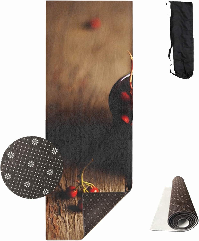 Yoga Mat, Premium Print 2 5 Inch 1cm Non Slip Exercise & Fitness Mat Santa Claus Christmas Snow Frost