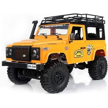 Goolsky MN-D90K 1/12 RC Crawler Defender Racing Truck Off-Road Car para Niños Adultos DIY Play Kit Sin Receptor Controlador ESC Batería (Amarillo)