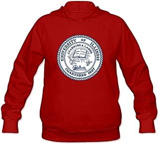 Women's University Of Illinois At Urbana Champaign UIUC Seal Lightweight Hoodie White