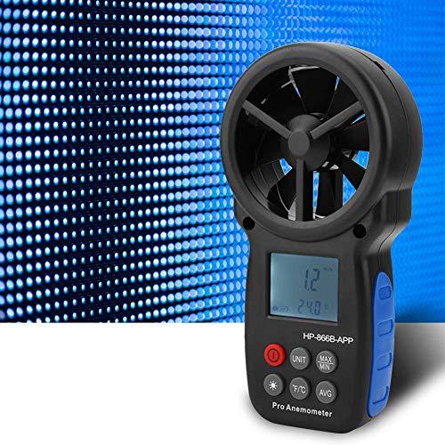 FYYONG Anemómetro digital portátil, profesional USB barra de velocidad del viento portátil Temperatura Velocidad del viento Medidor de aire probador con iluminación Pantalla for el tiempo de recogida