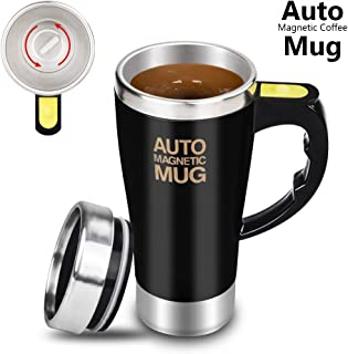 Dr. Prepare Stirring Mug, Self Stirring Coffee Mug, Stir Mug Self Stirring Cup & Auto Stirring Mug for Coffee Stirring, Office, Kitchen, Home, Travel, Gift Mug, Mix Cup -Black