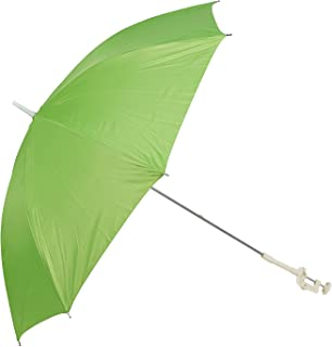 Panorama Gifts Portable Deck Chair Umbrella Lightweight Balcony Parasol + Clamp On Screw (Green)