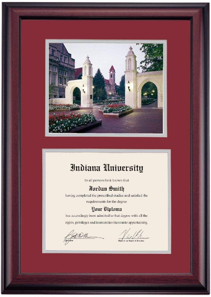 OCM DiplomaDisplay Premier Frame for Hoosi Indiana Sacramento Mall supreme IU University