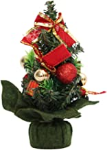KESYOO Tabletop Christmas Tree Small Xmas Trees Artificial Christmas Trees with Bow and Glitter Ornament for Christmas Par...
