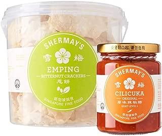 Shermay's Singapore Fine Food Bundle: Bitternut Cracker Emping Bucket, 200g with Cilicuka Original, 240ml