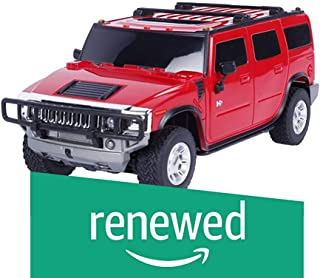(Renewed) Toy House Officially Licensed 1:24 Hummer H2 SUV RC Scale Model Car, Red
