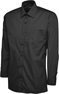 247-Clothing Mens Classic Full Sleeve Shirt Poplin Office Work Casual Easy Care
