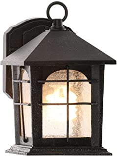 Brimfield Outdoor Aged Iron Wall Lantern