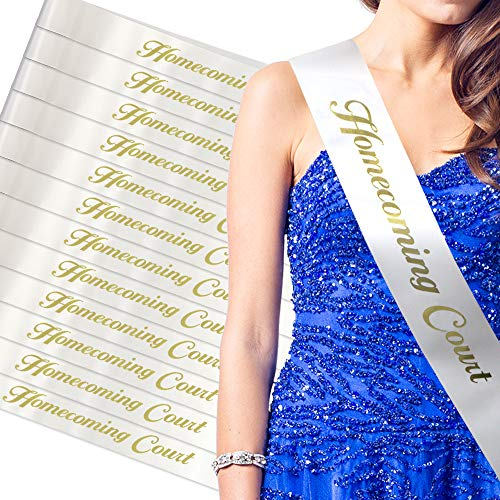 RibbonsNow Homecoming Court Sashes – 12 Count Bulk Pack
