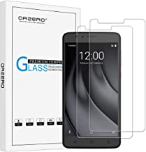 (2 Pack) Orzero for T-Mobile Revvl Plus Tempered Glass Screen Protector, 2.5D Arc Edges 9 Hardness HD Anti-Scratch Bubble-Free (Lifetime Replacement Warranty)