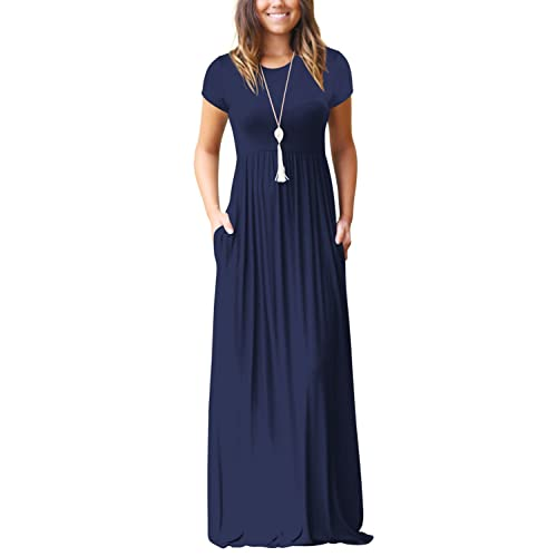 413daed07a Dasbayla Women's Casual Long/Short Sleeve Maxi Dress with Pockets