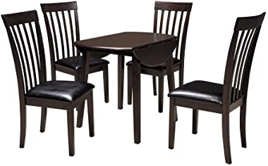 Signature Design by Ashley Hammis Dark Brown Round Dining Room Drop Leaf Table