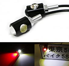 iJDMTOY (2) High Power Universal Bolt-On LED Lamps For Car Bike Motorcycle ATV 4x4 License Plate Lights and Taillight Rear Fog Lights