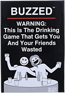 Buzzed Tipsy Wasted-A Party Game for Scary People-Novel Family And Friends Board Game Perfect Party Choice for New Year An...