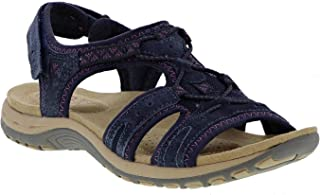785fe170b93c Earth Spirit Fairmont Ladies Suede Touch Fasten Sandals Navy