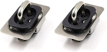 Sanzitop 2 Pcs Tie Down Anchors Retractable Truck Bed Top Side D Ring for 2007-2010 Dodge Ram 1500, 2009-2010 Dodge Ram 2500, 2011-2016 Ram 1500 2500,2011-2013 Ram 3500