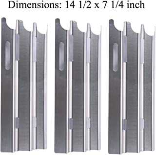 GasSaf Stainless Steel Heavy Duty Heat Plate, Heat Tent, Burner Cover, Flavorizer Bar Replacement for for Vermont Castings, Jenn-Air and Great Outdoors Gas Grill Models(14 1/2
