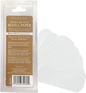 Cuccio Naturale White 180 Grit Refills for Reusable Stainless Steel Pedicure File