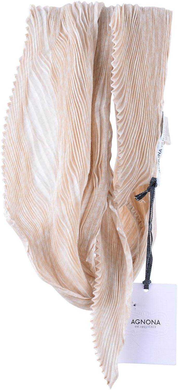 Agnona Scarf Women's Beige Cashmere 35x35