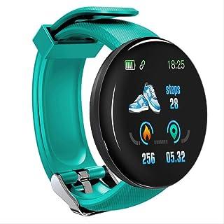 Davide Alisa Bluetooth Reloj Inteligente Hombres Presión Arterial Ronda Reloj Inteligente Mujeres Reloj Impermeable Fitness Tracker para Android iOS como Se Muestra D18 Verde