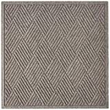 Hudson Exchange 4106 Fashion Diamond Floor Mat, 35' x 35', 3/8' Thick, Medium Gray