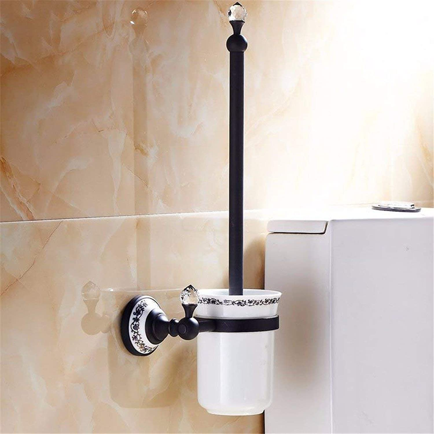 European Style of Christmas All The Former in Copper Black Copper Ceramic Crystal Bathroom soap Dispenser, Dry-Towels,Toilet Brush