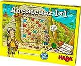 Haba 303717 - Abenteuer 1x1   Rechen- und Lernspiel zum spielerischen Trainieren des Einmaleins  Multiplizieren im Zahlenraum 1-100   Cleveres Spielprinzip...
