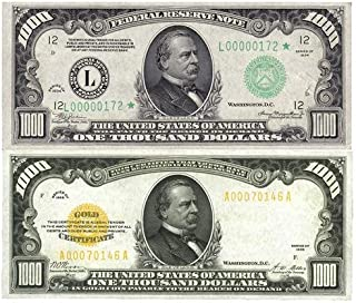 GROVER CLEVELAND 1000 BILL GLOSSY POSTER PICTURE PHOTO money currency gold