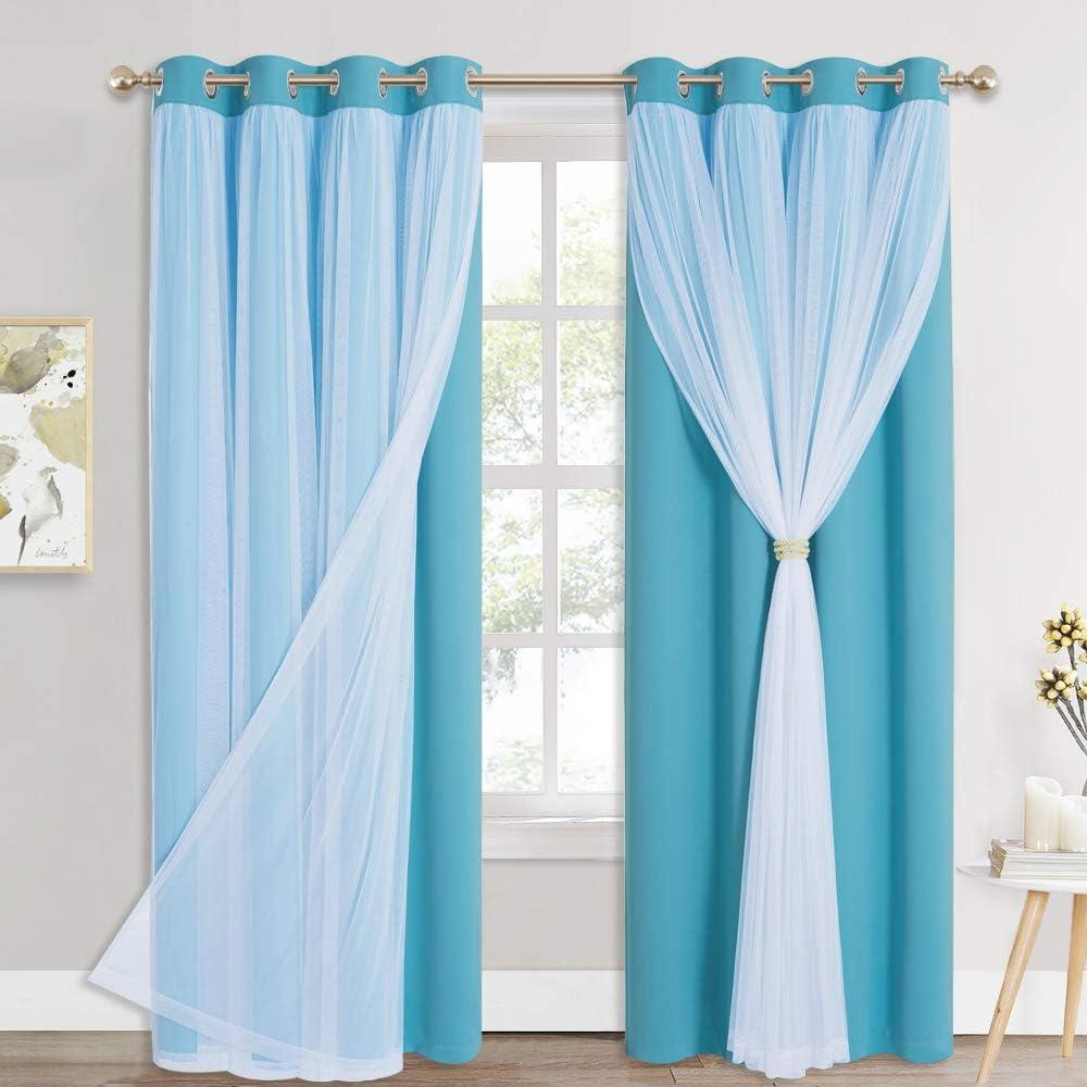 PONY DANCE Curtains 84 Inch Length Curtain Layered Match 完全送料無料 Mix 予約販売 -