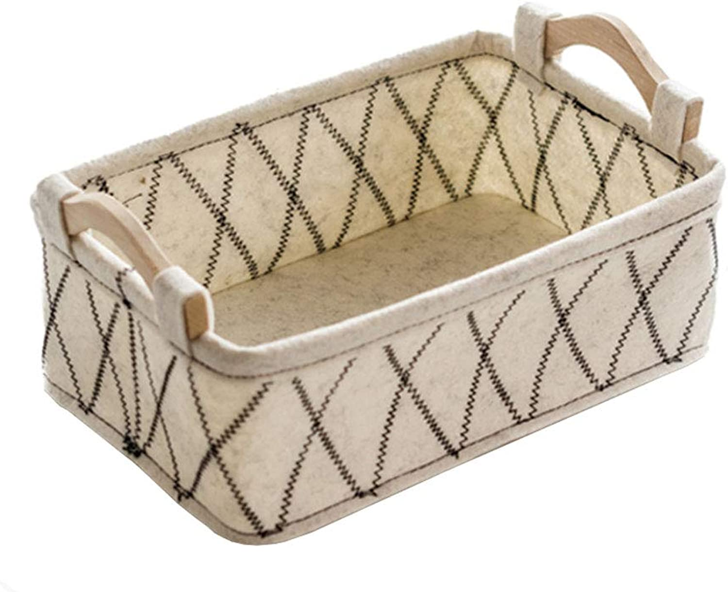Storage Basket with Handle Sundries Finishing Organize Box for Home Office Bedroom and Gift (Size   29  19  13.5cm)
