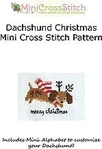 Dachshund Christmas Mini Cross Stitch Pattern