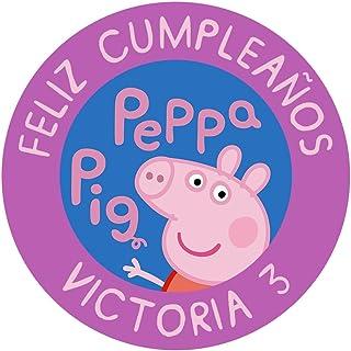 OBLEA de Papel de azúcar Personalizada, 19 cm, diseño de Peppa Pig