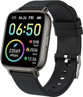 Reloj inteligente 2021 Ver. Relojes para hombres y mujeres, Fitness Tracker 1.69 pulgadas pantalla táctil Smartwatch Fitness Watch Monitor de ritmo cardíaco, IP68 impermeable podómetro actividad Tracker Monitor de sueño para Android iPhone