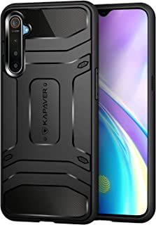 KAPAVER® Realme X2 / Realme XT Rugged Back Cover Case MIL-STD 810G Officially Drop Tested Solid Black Shock Proof Slim Arm...