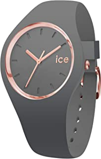 Ice-Watch ICE GLAM COLOR Medium Grey Silicone Band Women's Watch 015336