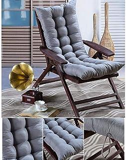 Cojín de silla mecedora con amarres,engrosamiento de cojín para una silla con respaldo alto,color sólido Patio Marrón Exterior Cojines de asiento acolchados de una pieza 45 x 115 cm (18 x 45 pulgadas)