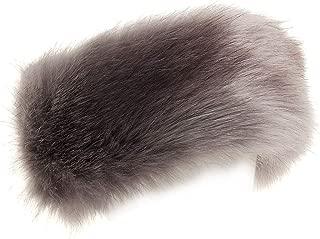 FHQHTH Faux Fur Headband with Elastic Stretch Plush Fur Hat Winter Ear Warmer Earmuff Ski Cold Weather Caps