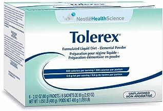 Tolerex Formulated Liquid Diet Elemental Powder, Unflavored, Box of 60 Packets