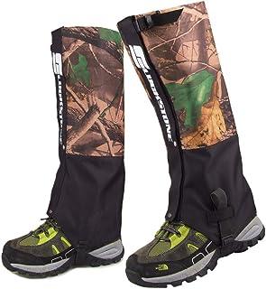 防水靴カバー レインシューズは、足のゲイター防水迷彩ハイキングゲイターを耐久性のあるレギンスゲイター通気性の高いレッグカバーラップマウンテンスキートレッキングウォーキング登山狩猟 - 1ペアの靴カバー雨雪