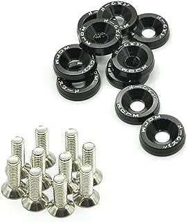 Auto Aluminium Universal Unterlegscheiben M6 x 20 Stahlschrauben + eloxierte Unterlegscheiben (schwarz)