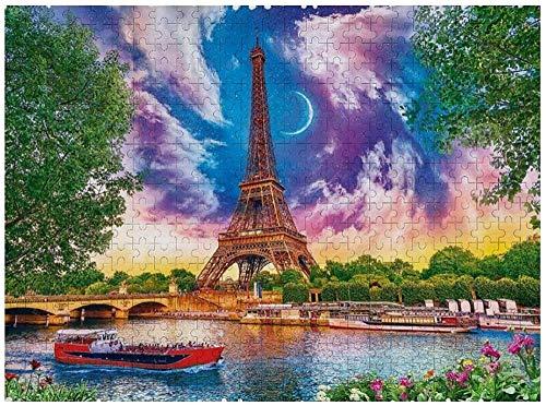 Rompecabezas Puzzle 1000 Piezas 75 * 50 Cm / 29,5 * 19,6 Pulgadas Torre Eiffel Juguetes Educativos Puzzles Rompecabezas Madera Los Para Hijos Adultos Regalo Festiva