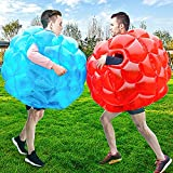 2-Pack Inflatable Human Giant Hamster Ball, Bubble Soccer Balls Bumper Balls for Adults, Knocker Balls Zorb Ball for Sumo Game, Outdoor Team Gaming, Bump and Bounce