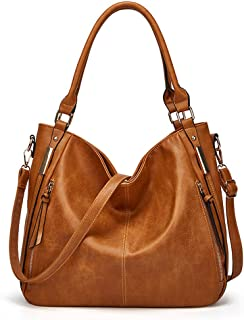 BUKESIYI Damen Tasche Handtasche Umhängetasche Schultertasche Frauen Kulturbeutel Weekender Klein PU Leder CCDE77168