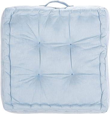 Safavieh Gardenia Glam 18-inch Light Blue Velvet Square Floor Pillow