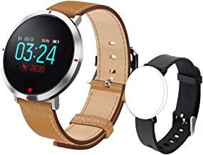 maxtop Smart Watches for Women - Heart Rate Monitor Blood Pressure Sleep Monitor Fitness Tracker Compatible with Android and iOS - Brown