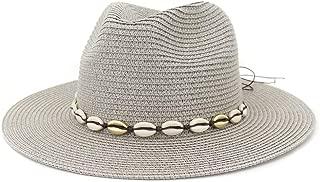 Sun Hat for men and women Summer Women Straw Sun Hat Wide Brim Jazz Hat Floppy Panama Hat With Fringed Shell Tape Outdoor Jazz Beach Hat Sombrero
