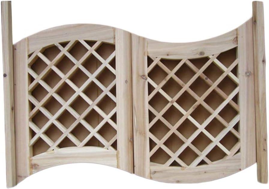 Same day shipping LIANGLIANG Swinging Cafe Doors Max 69% OFF Indoor Bar D Door Solid Wood Grid